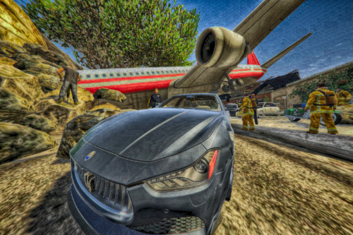Plane Crash at Franklin's House