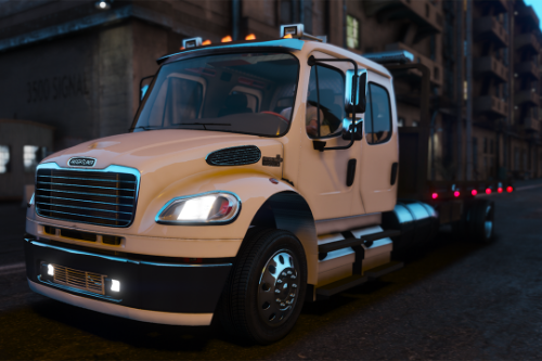 Freightliner M2 Crew Cab Flatbed [Add-on | Script | BETA]
