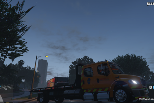 freightliner m2 flatbed livery