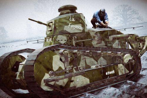 FT 17 Tank Camouflage retexture Insigna + Tankist