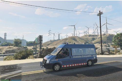 Furgoneta Ford Transit de l´Àrea Regional de Recursos Operatius (ARRO) Mossos d´Esquadra