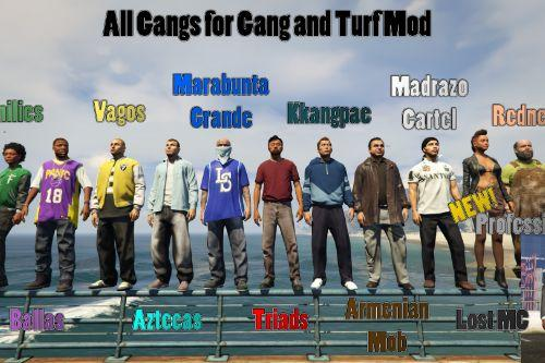 All Gangs for Gang and Turf Mod