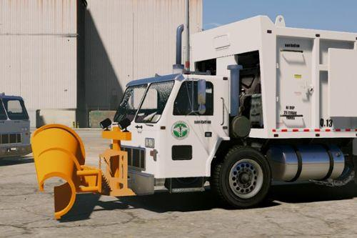 Garbage Truck w/ Snow Plow [ELS/MAPPED] [TEMPLATE] [Multi-Livery Capable]