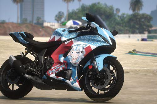 Gawr Gura Itasha Livery for Yamaha R7