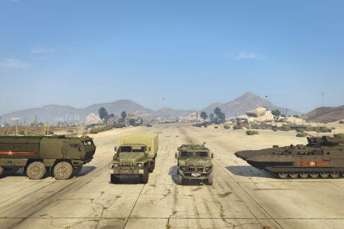 Gaz Tiger (Unarmed), Ural-4320, Typhoon-K, Armata T-15 Pack [Add-On]