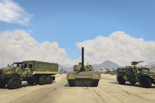 "Gaz ""Tiger"", Ural ""Next"" and Tank ""Armata"" Pack [Add-On]"