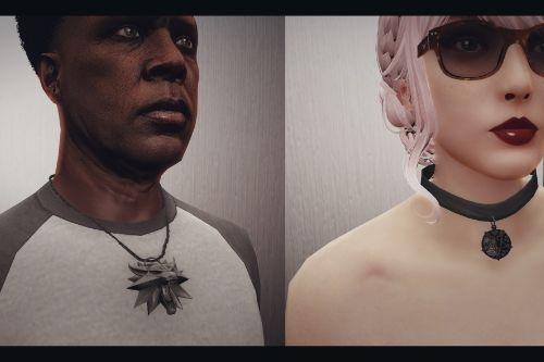 Geralt&Yennefer Necklace  by P&Q Mods