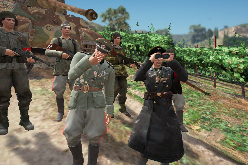 German WWII Army outfits for MP Male