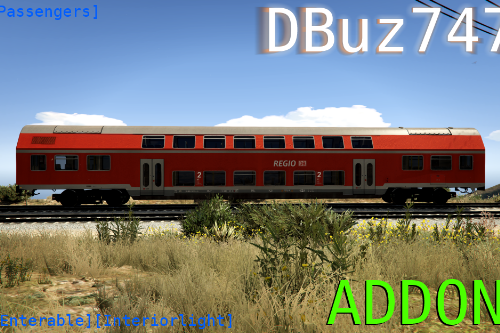 German Double Stack Wagon Passenger Train (DBuz747) [Add-On | Enterable | Interior Light]