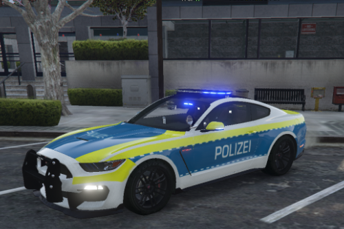 German Polizei 2016 Mustang GT350R Skin + New Handling [FiveM | Singelplayer] [ELS]