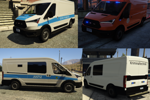 German Police Liveries for Speedo Express / Gerichtsmedizin, Justiz, Kripo, Kampfmittelbeseitigung