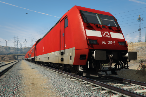 German Railcar (Bombadier Traxx DB BR 145) - Train Mod [Enterable]🚆