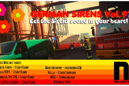 German Sirens Volume 97 - German Retro Siren Pack