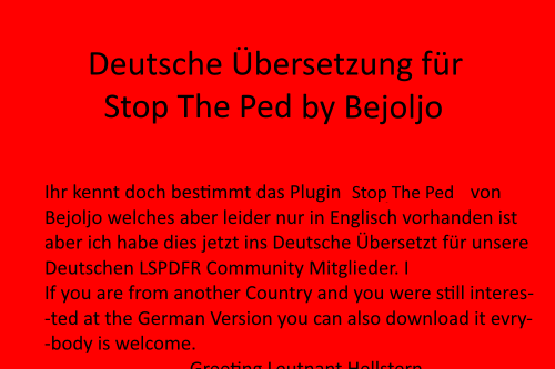 German Translation for Stop The Ped