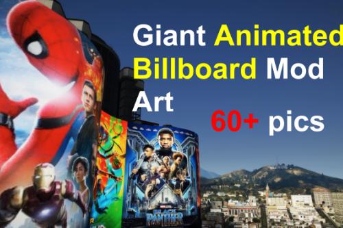 Giant Animated Billboard Mod Art