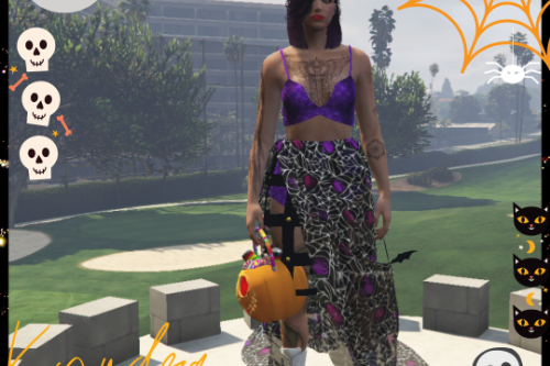 Glamour BatWitch Dress Halloween for mp female