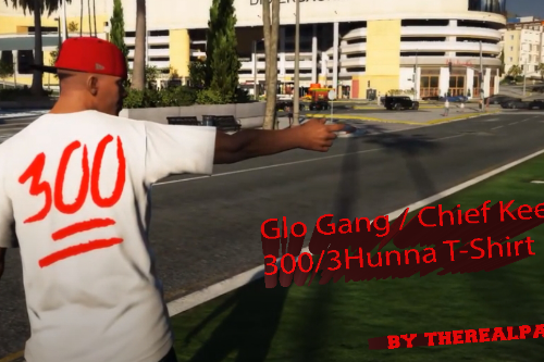 Glo Gang / Chief Keef - 300 / 3Hunna T-Shirt [Franklin]
