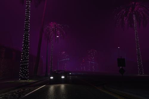 Glowing Palms