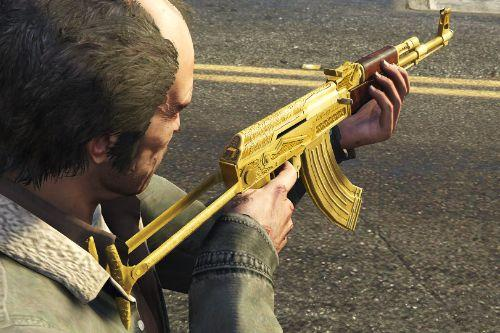 Gold Plated AK47 Pack