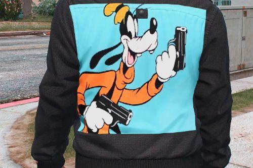 Goofy with gun shirt for frank