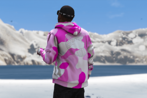 "Goth Money Records ""Taliban World"" Camo Hoodie Pack for Franklin"