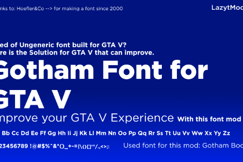 Gotham Font for GTA 5