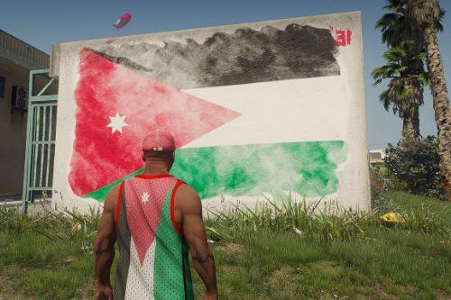Graffiti Flag of Jordan