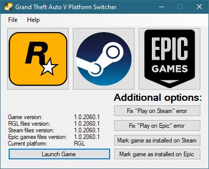 Grand Theft Auto V Platform Switcher