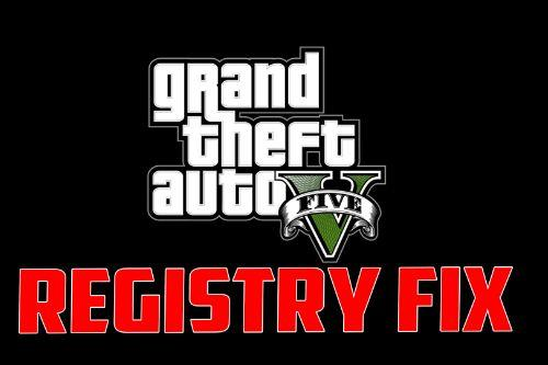 Grand Theft Auto V Registry Fix