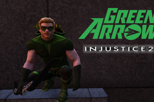 Green Arrow Injustice 2 Mobile [Add-On Ped]