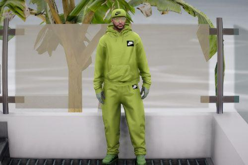 Green Nike Outfit for MP Male