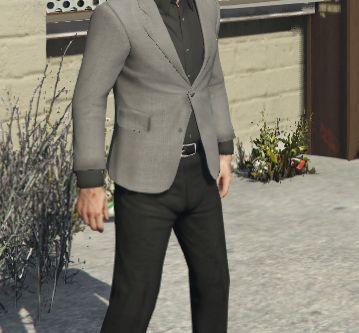 Grey Suit & Black Cropped Pants For Trevor