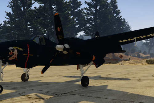 Grumman F7F-1 Tigercat [Add-On]