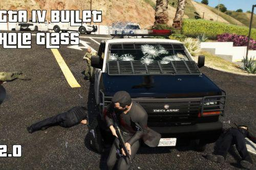 GTA IV 3D Bullet Hole Glass - (Parallax Glass)