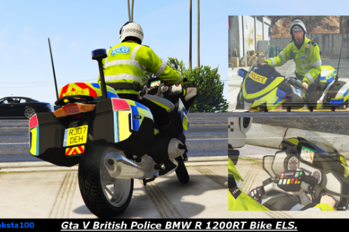 British Police BMW R 1200RT Bike ELS