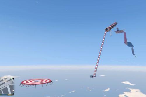 GTA 5 mega ramp longest jump stunt challenge