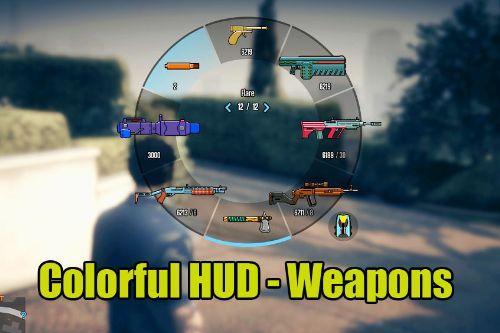 GTA 5 v1.53 Colorful HUD (Weapons)