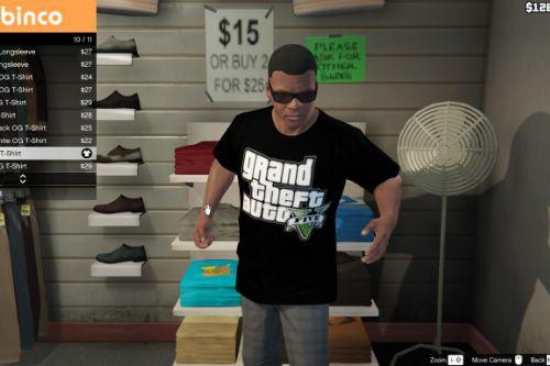 Black GTA V Shirt for Franklin