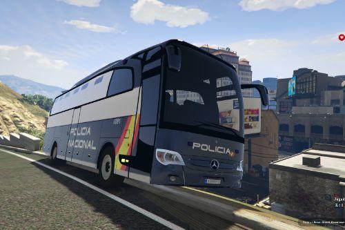 Guagua/Bus de Transporte de Presos de la Policia Nacional Española CNP Mercedes Travego (Spain Police Bus)