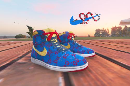 Gucci x Nike Blue Air Jordan 1 for Franklin