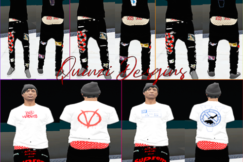 Gucci x Supreme x Vlone Shirt and saggy jeans pack
