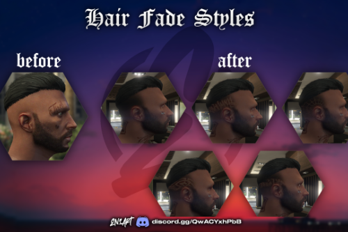 Hair Fade Styles Pack V1 for MP Male/Female