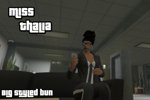 Hairstyle for MP Female ~ Big styled bun SP/FiveM