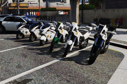 Hakucho Police Bike+BF400 Dirtbike [Add-On / Replace | Template | Unlocked]