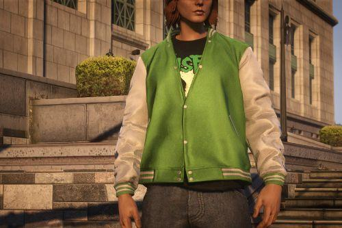 Half Buttoned Varsity Jacket for MP Male