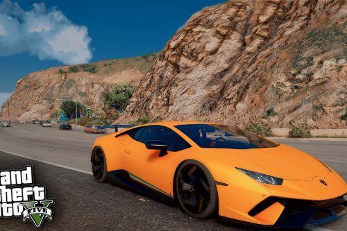 Handling Lamborghini Huracan Performante Realistic Top Speed