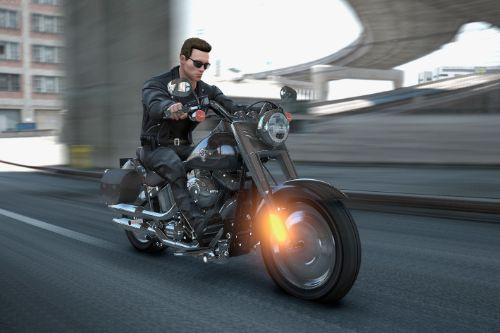 Harley Davidson Fat boy Terminator 2 [Add-On]