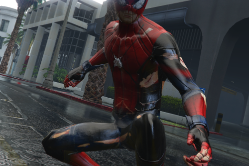 HCU HIRST MOVIES | SPIDER-MAN custom Design-Battle damage texture