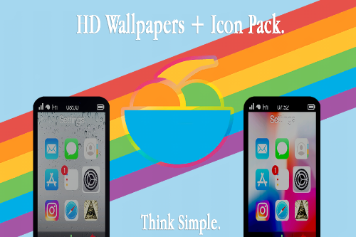 HD Wallpapers + Icon Pack  [For IFruit Phone]