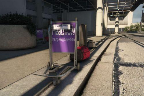Heathrow baggage trolley